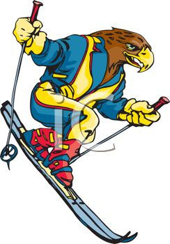 0511 1103 1822 4007 Eagle Downhill Skiing Clipart Image Jpg