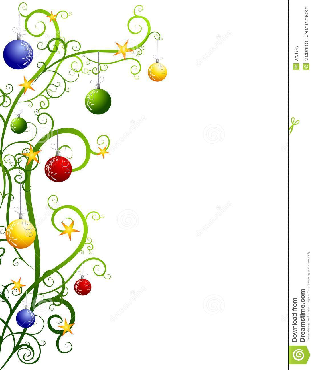 Christmas Tree Ornament Clipart - Clipart Suggest Christmas Tree Border Clip Art Free