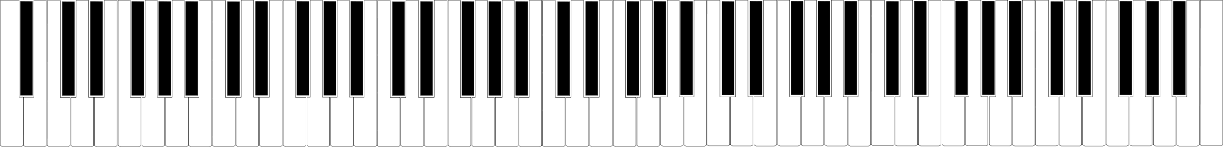 Piano Keyboard Clip Art - Cliparts