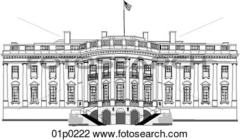 Clipart Of White House South 01p0222   Search Clip Art Illustration