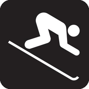 Down Hill Skiing Black Clip Art At Clker Com   Vector Clip Art Online