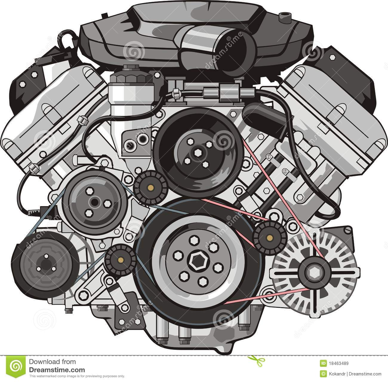 Engine Front Royalty Free Stock Images   Image  18463489