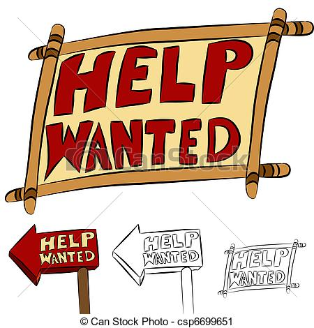 Help Wanted    Csp6699651   Search Clipart Illustration Drawings
