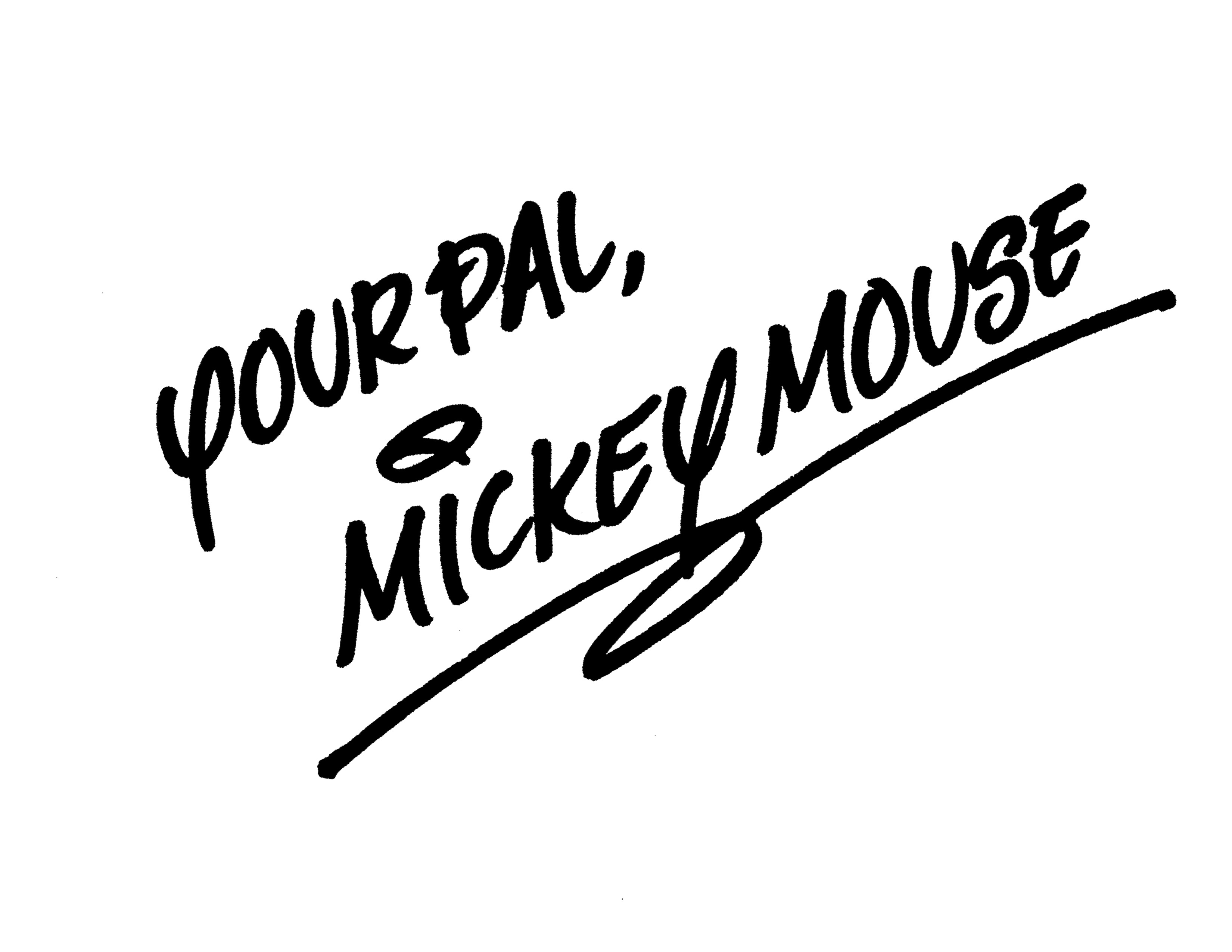 Mickey Mouse Signature Clipart - Clipart Kid