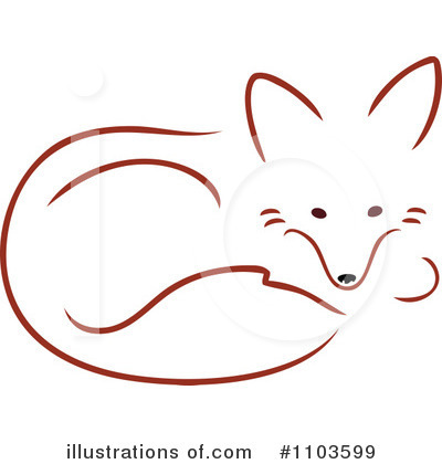 Royalty Free  Rf  Fox Clipart Illustration By Maria Bell   Stock