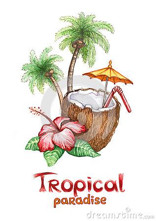 Clip Art Tropical Beach Paradise – Cliparts