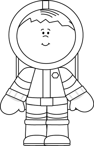 Astronaut In Space Clipart Space Clip Art   Black And
