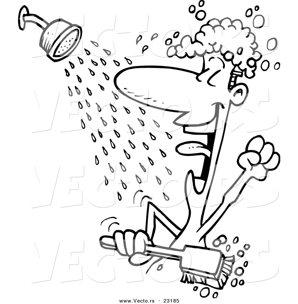 Shower Head Cartoon Drawing Clip art of someone showering clipart ...