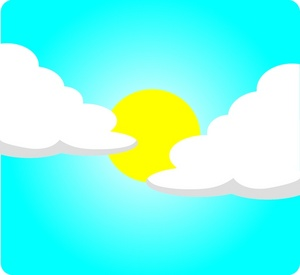 Clipart Illustration Of A Sunny Day Icon Clipart Illustration By Rosie