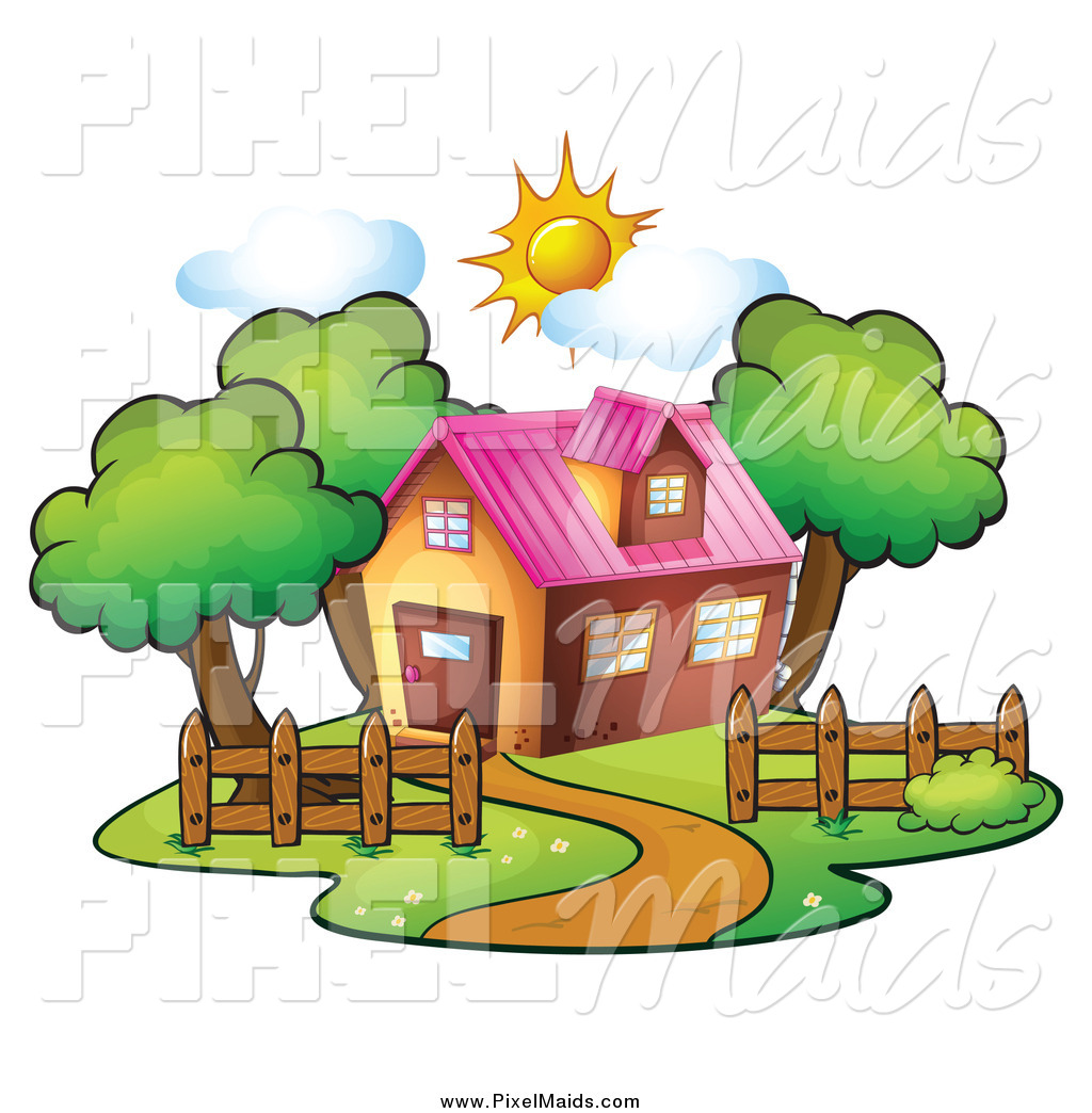 Clipart Of A Residential House On A Sunny Day By Colematt    161777