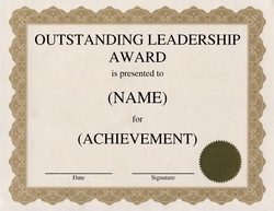 Download Outstanding Leadership Award Free Templates Geographics