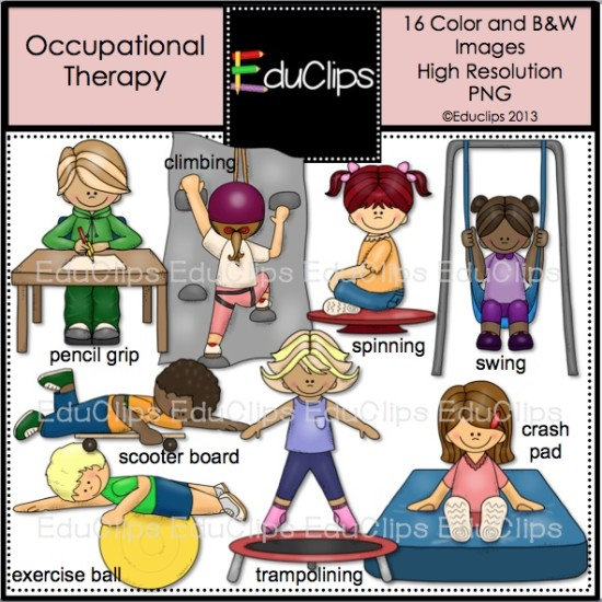 Home   Products   Occupational Therapy Clip Art Bundle  Color And B W