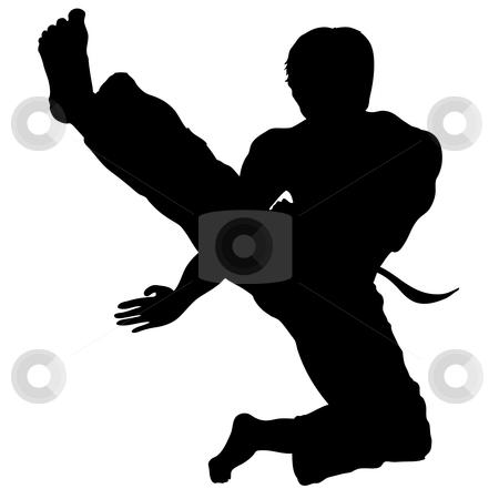 Karate Silhouette Clipart - Clipart Kid
