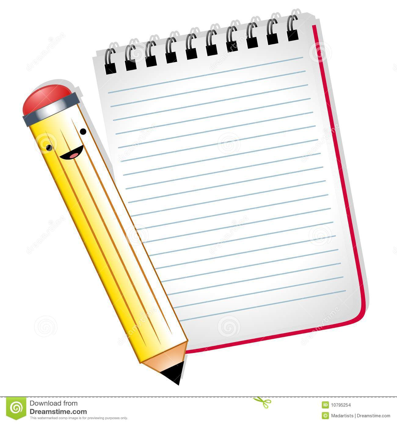 More Similar Stock Images Of   Happy Cartoon Pencil Notepad