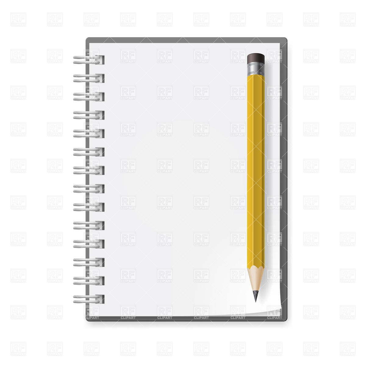 Notepad And Pencil With Eraser 20574 Objects Download Royalty Free