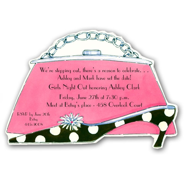 Paper Purse Invitation Template