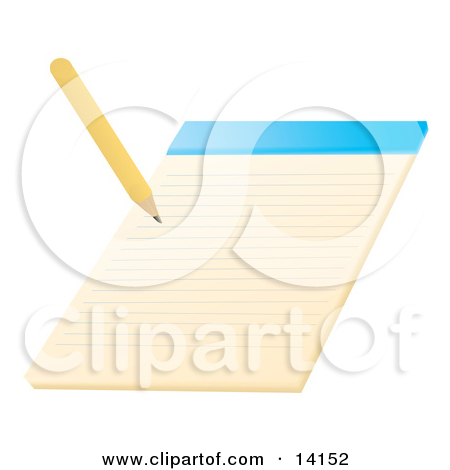 Pencil Writing On A Notepad School Clipart Illustration By Rasmussen