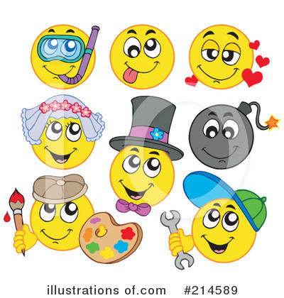 Royalty Free  Rf  Emoticons Clipart Illustration By Visekart   Stock