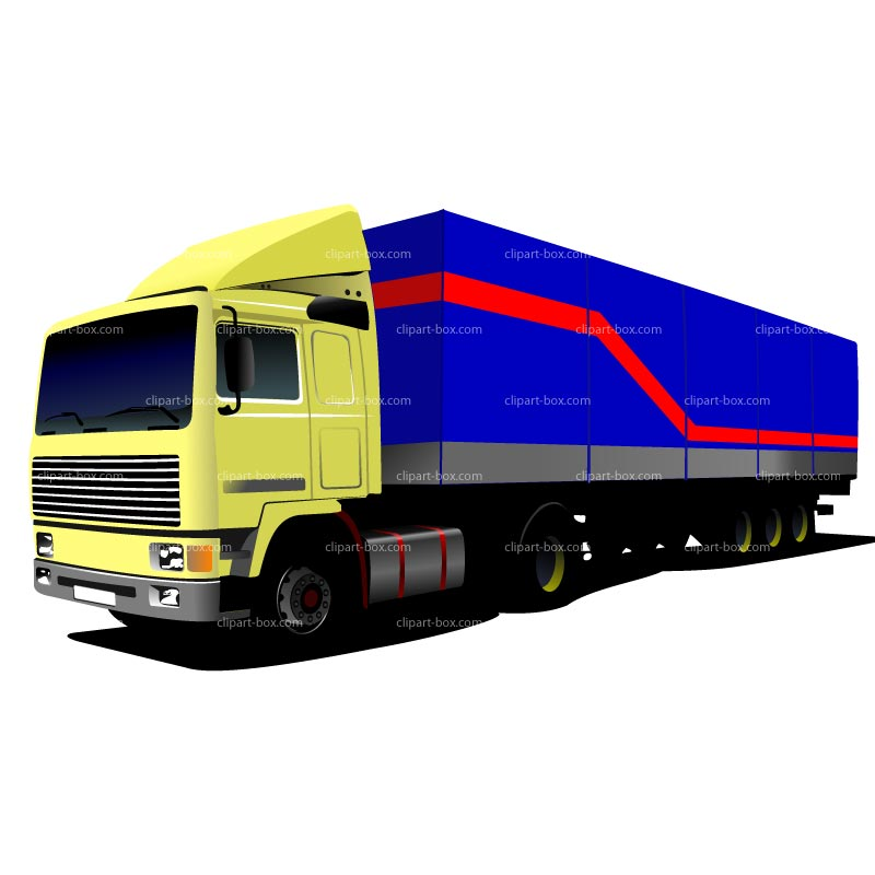 Truck And Trailer Clipart - Clipart Kid