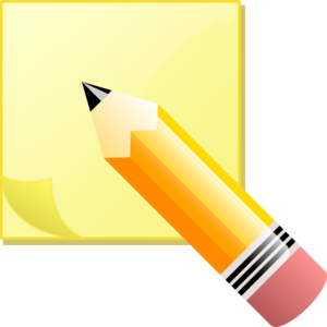 Sticky Notepad And Pencil Clip Art At Clker Com   Vector Clip Art