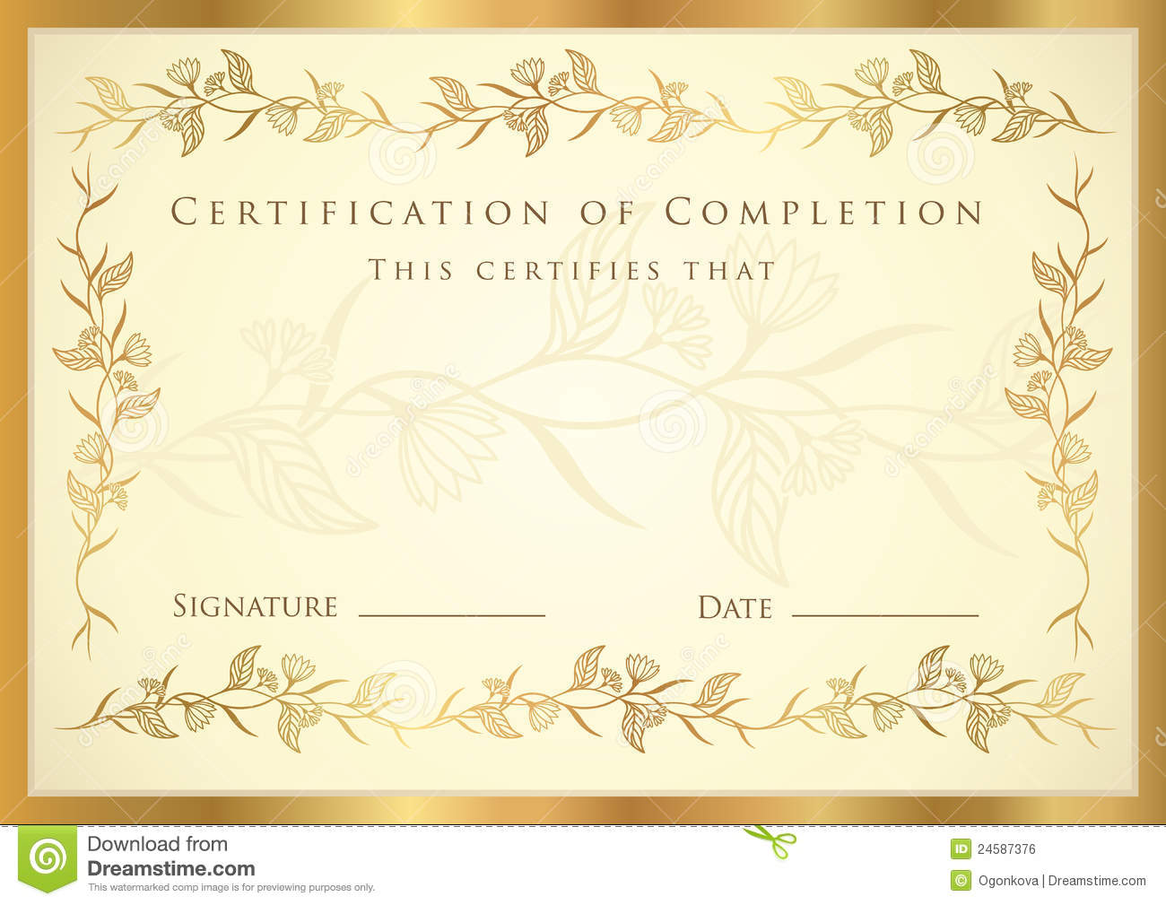 Certificate Diploma Award Template Pattern Royalty Free Stock Image