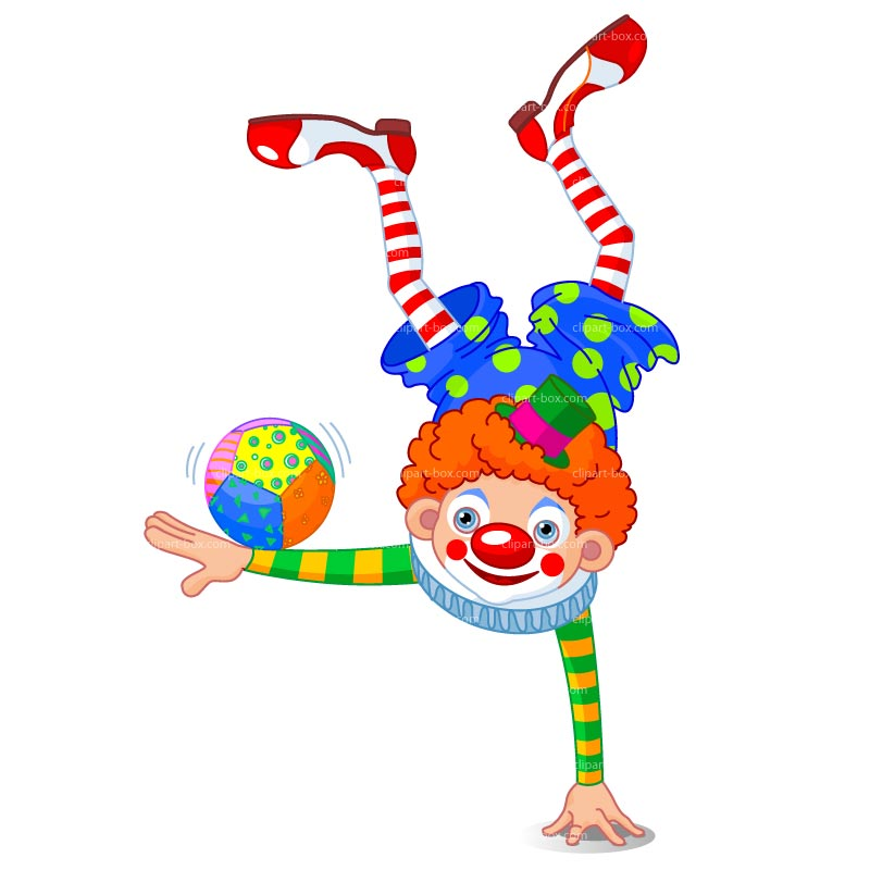 Clipart Acrobat Clown   Royalty Free Vector Design