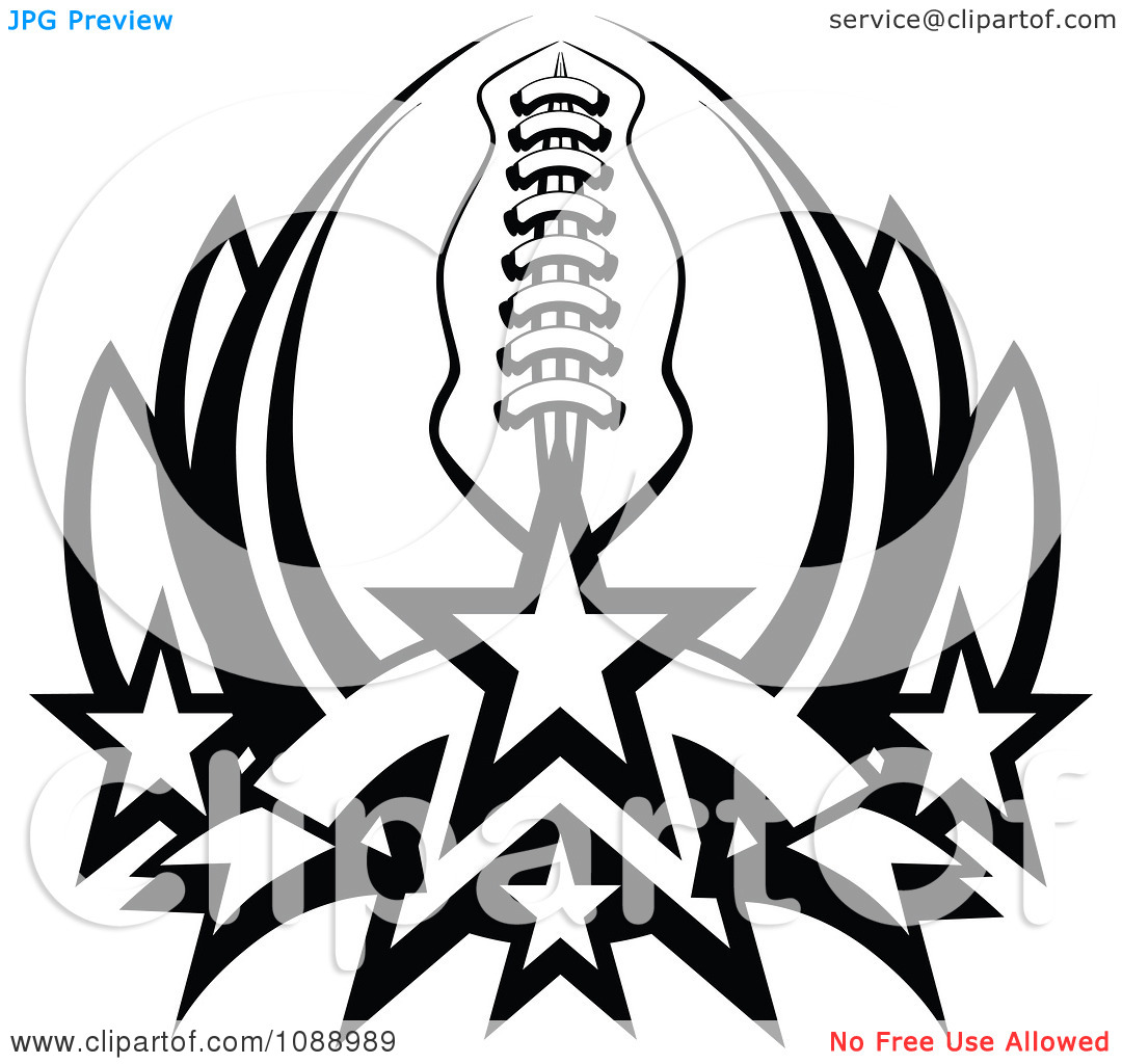 American Football Black And White Clipart - Clipart Kid
