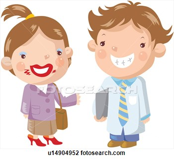 Clipart   Giggle Father Mother Smiling Make Up  Fotosearch