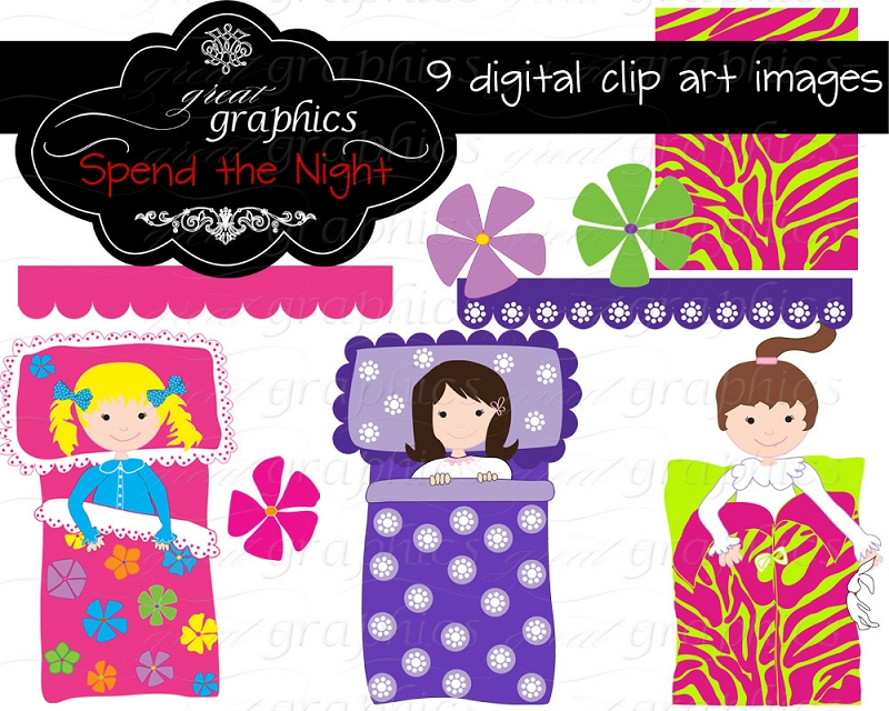 Kids Slumber Party Clipart Printable Slumber Party Clip