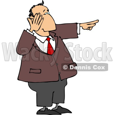 Laughing While Pointing His Finger At Something Clipart   Djart  4697