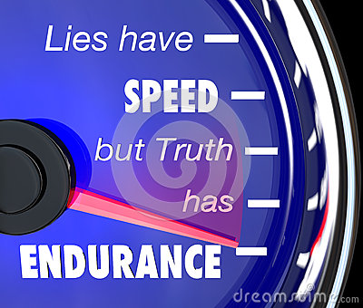 Lies Have Speed Truth Has Endurance Speedometer Stock Photo   Image