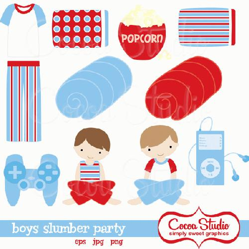 My Grafico Boys Slumber Party Clipart Fun Slumber Party Graphics