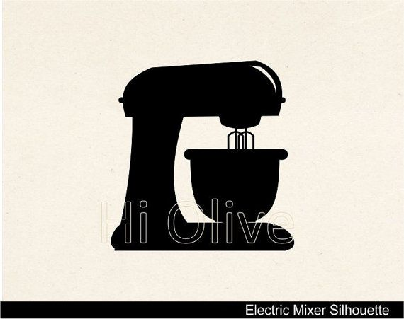 Hand Mixer Silhouette ~ Electric stand mixer clipart suggest