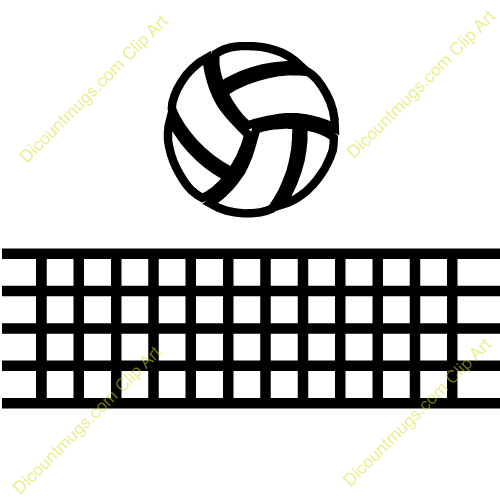 Volleyball Net Clipart Black And White volleyball outline clipart