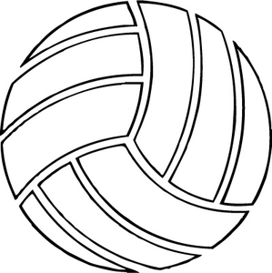 Peace Love Volleyball Outline Embroidery Download