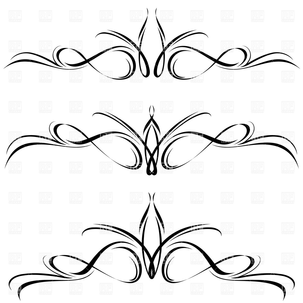Abstract Line Elements   Decorative Ornament 7959 Borders And Frames
