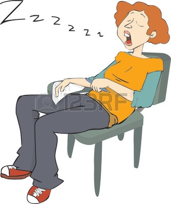 Boredom Clipart 922294 Sleepy Student Snoring On A Chair While Doing