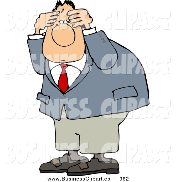 Businessman Wearing A Business Suit Confusion Business Clip Art Djart