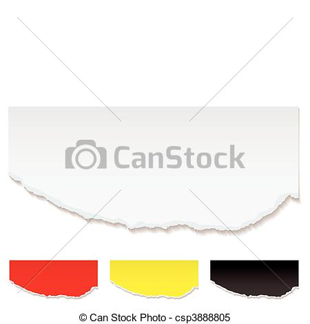 Clipart Vector Of White Paper Torn Edge   White Paper With Torn Edge