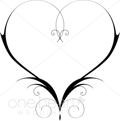 Heart Clipart Swirly Heart Clipart Heart Outline Clipart Garden Heart