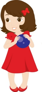 Clip Art Little Girl Clip Art girl in dress clipart kid image little a red holding ball
