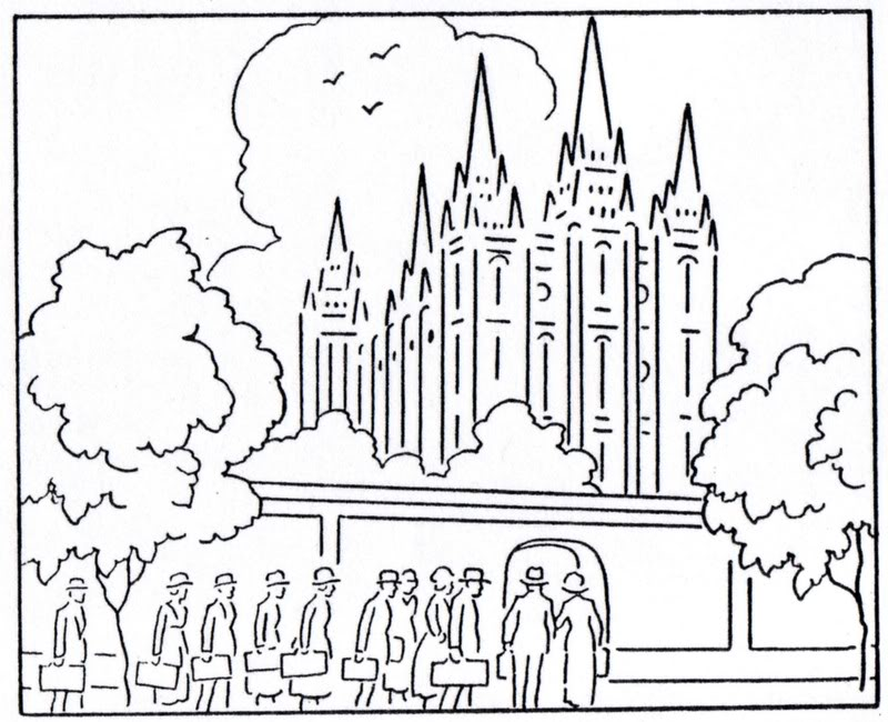 These Lds Temple Coloring Pages For Free  Lds Temple Coloring Pages