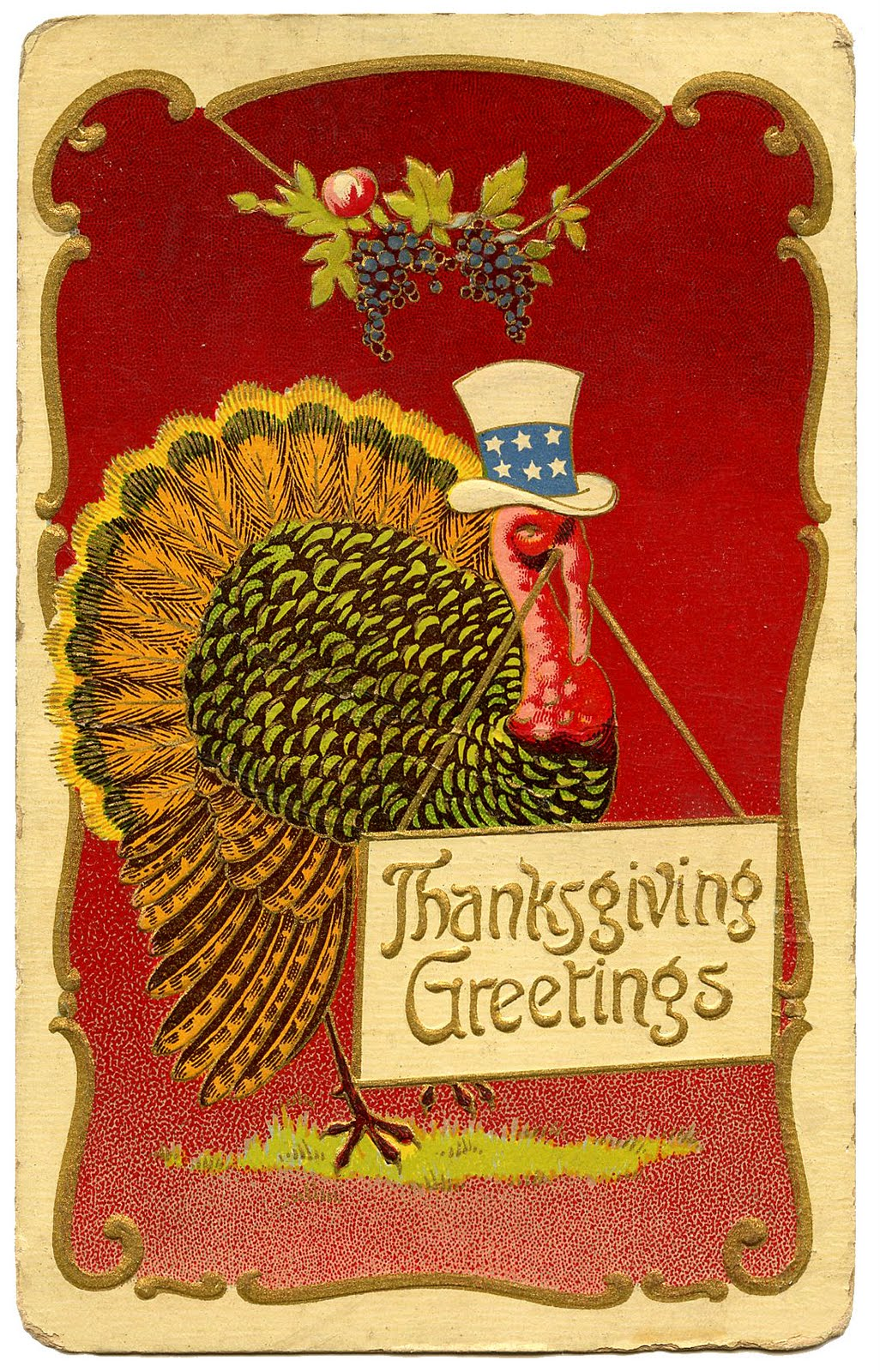 Vintage Thanksgiving Clip Art   Patriotic Turkey   The Graphics Fairy