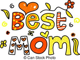 Best Mom   Decorative Ornamental Whimsical Text Saying Best