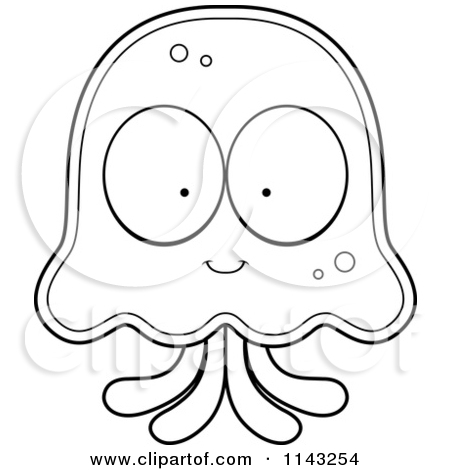 Jelly Fish Outline Clipart - Clipart Kid