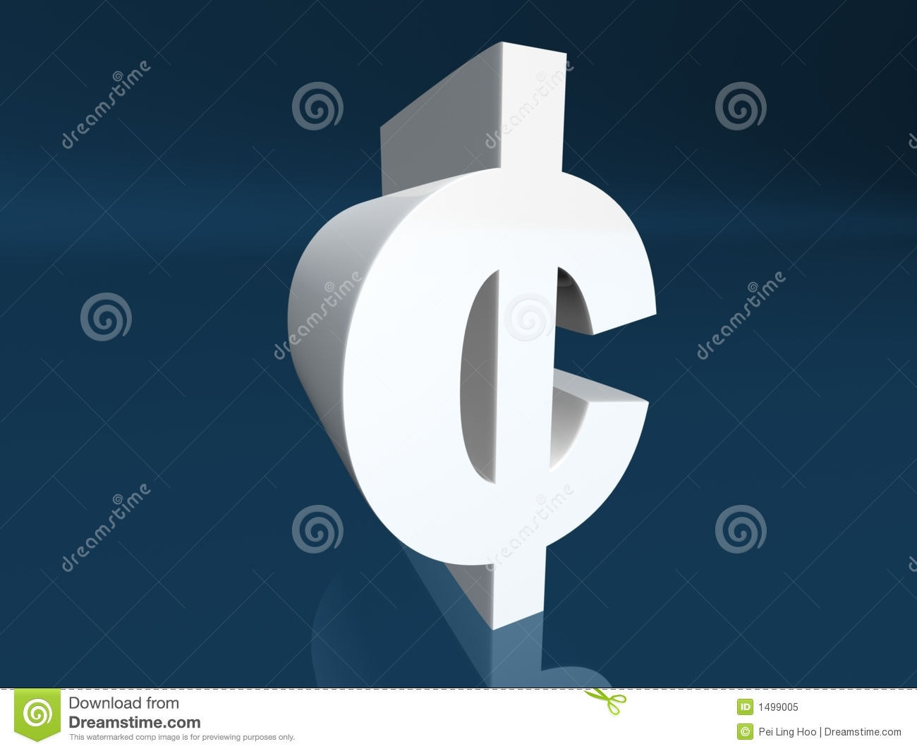 Cent Sign Cent Symbol Royalty Free Stock