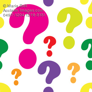 Colorful Question Marks   Royalty Free Clipart Picture