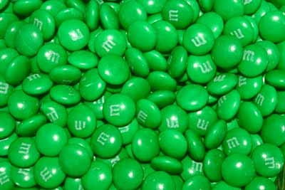For M M Candies How Is The Character That Represents The Green M M
