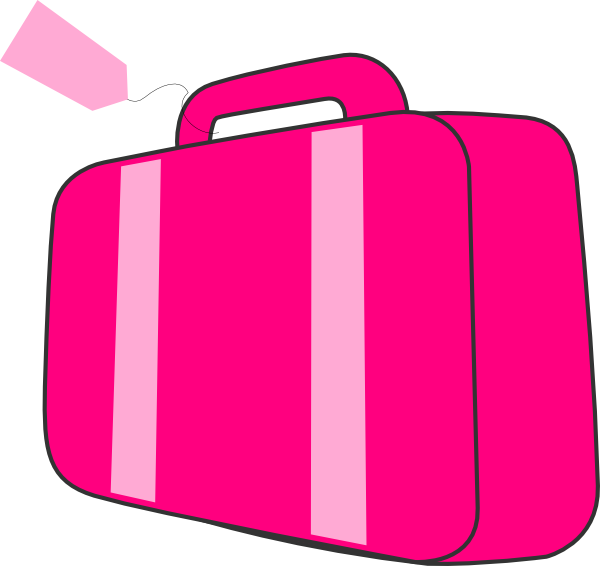 Pink Suitcase Clip Art At Clker Com   Vector Clip Art Online Royalty