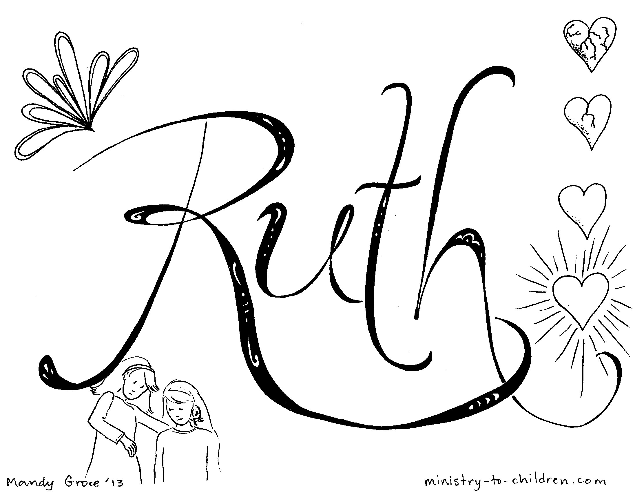 ruth morehead coloring pages - photo#30